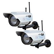 kingneo306sa מצלמה מדומה מצלמת אבטחת wifi דמה אנרגיה סולארית חיצונית עם פלאש אנטנה הובילה כסף 2PC