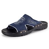 Ανδρικά υποδήματα-Παντόφλες & flip-flops-Καθημερινά-Λάτεξ-Μαύρο / Μπλε / Χακί