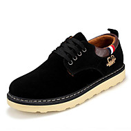 Men's Shoes Suede Outdoor / Casual Oxfords Outdoor / Casual Walking Low Heel Lace-up Black / Blue / Yellow