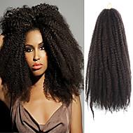 """mørk brun 17"""" Kanekalon afro frekke fletter vri havanna krøllete syntetisk hår fletter 100g"""