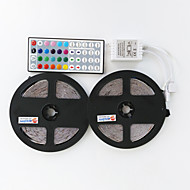 2×5M 300X3528 LED SMD RGB LED Strip Light and 44Key Remote Controller and1BIN2 Connecting line(DC12V)