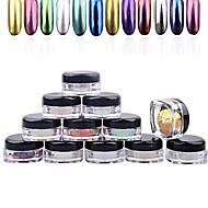 Vinger / Teen-Schitteren & Poeder-Andere-1box nail powder + 1pcs brush- stuks1.5cm*3cm- (cm)