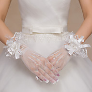Wrist Length Fingertips / Fishnet Glove Lace / Polyester / Net Bridal Gloves / Party/ Evening Gloves