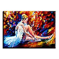 Pintados à mão Paisagem Pinturas a óleo,Estilo / Moderno / Clássico / Tradicional / Realismo / Mediterrêneo / Pastoril / Estilo Europeu1