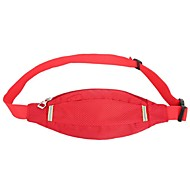 Women Nylon Outdoor Waist Bag Purple / Orange / Red / Black / Fuchsia