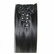 7ks Celý soubor klipy v rovný Kanekalon tepla vláken klipy odolné prodloužení vlasů