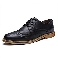Men Genuine Leather Shoes Pointed Toe Business Shoes EU 39-43