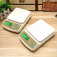 sf400a taustavalo sähköisen korkean tarkkuuden kotitalous keittiö asteikko 0,1 g (englanti (7 kg / 1 g)