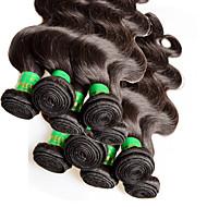 """10pcs 1 kg beaucoup Vente en gros cheveux indiens vierges vague de corps 10 """"~ 28"""" non transformés extensions de cheveux humains trame"""