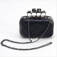 Women leatherette Casual / Event/Party Evening Bag Black