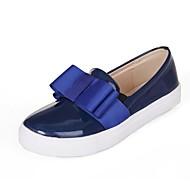 נעלי נשים-מוקסינים / החלקה-PU-פלטפורמה / מעוגל / נוחות-כחול / חרדל-משרד ועבודה / שמלה / קז'ואל-עקב שטוח