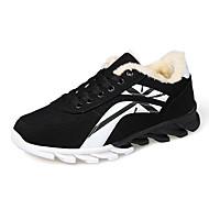 Men's Winter Suede / Tulle Casual Flat Heel Others Black / Blue / Red Sneaker