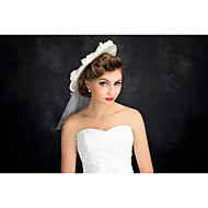 Women's Tulle / Flax Headpiece-Special Occasion Hats 1 Piece Clear Irregular 25