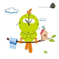 Rond / Nouveauté Moderne/Contemporain / Traditionnel / Décontracté / Bureau / Affaires Horloge murale,Animaux / Famille / Dessin animé