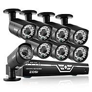 zosi @ DVR AHD 1080p 8ch 8xoutdoor מערכות טלביזיה במעגל סגור ערכת אבטחת מצלמת כדור ir-לחתוך עמידות למי 2.0MP