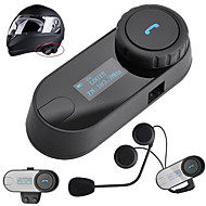écran lcd avec fm fonction 1000m 3 coureurs moto intercom bluetooth interphone sans fil casque casque