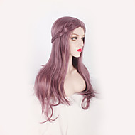 Lavender Colored Smoke Pink Natural Body Wave Sexy Beauty Heat Resistant Hair Women Wigs