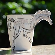 1Pc 400Ml 3D  Cartoon Animal Hand-Painted Ceramic Cup Coffee Milk Mug Random Color