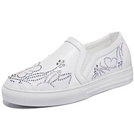 Women's Shoes Synthetic Spring / Fall / Winter Moccasin Totes Athletic / Casual Flat Heel Glitter Silver / White