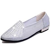 Dame-PU-Flat hæl-Komfort-Flate sko-Fritid-Rød / Sølv / Gull
