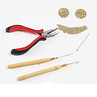 プライヤー マイクロリング/ループ エクステンション用ツール アルミニウム 4 ウィッグ髪のツール