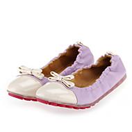 נעלי נשים-שטוחות-דמוי עור-בלרינה / מעוגל-ורוד / סגול / אדום כהה-קז'ואל-עקב שטוח