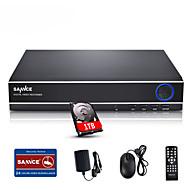 sannce® 4ch 720p multi-mode input ecloud HDMI 1080p / vga / bnc CCTV järjestelmä DVR sisäänrakennettu 1TB hdd