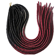 dreadlocks Havana Faux Dreads Heklet faux dreads Dreadlock Extensions Kanekalon Grå 1B / BLÅ 1burgundy 1b / # 30 Hårforlengelse 20""