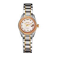 Semdu® Stainless Steel Fashion Women Mechanical Watch Calendar Fashion Waterproof Rhinestone Watch