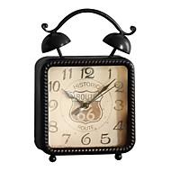 europeisk stil vintage jern skrivebord vekkerklokke