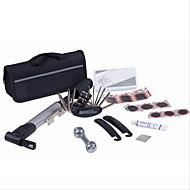 Fahrradreifen Reparatur-Kits 15 in 1 bearbeitet Fahrradreparatursatz mit Beutel-Pumpe schwarz Set