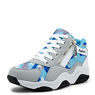 Women's Shoes Synthetic Wedges Comfort Fashion Sneakers Casual Gray/Fuchsia