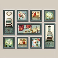 Framed Oil Painting Wall Art,Wood Material Dark Blue Mat Included With Frame For Home