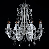 8 Heads Modern Creative Style Handmade Crystal with Metal Pendant Lamp Plating Color Engineering Chandelier Light