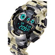 SANDA® Men's Military Camouflage Design Digital LCD Waterproof Sports Watch