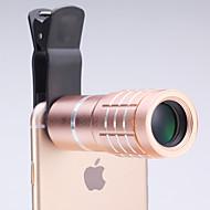 Univerzális 10 × távcső lencséje mobiltelefon iphone / Samsung ezüst / arany / rózsa / fekete
