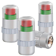 네 설치 금속 캡 타이어 압력 모니터링 타이어 압력 밸브 캡