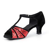 Sapatos de Dança ( Vermelho/Prateado/Dourado ) - Mulheres - Não Personalizável - Latim