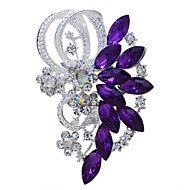 Bride Wedding Flower Rhinestone Brooch for Women Men Jewelry Accessories