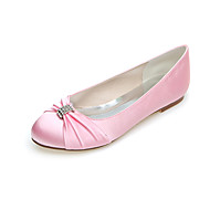 Women's Spring / Summer / Fall / Winter Round Toe Satin Wedding / Casual / Party & Evening Flat Heel RhinestoneBlack / Blue / Pink /