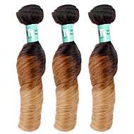 Ombre Brasilianisches Haar Locken 3 Stück Haar webt