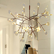 KWB 45 LED Innovation Firefly Pendant Light Modern Northern Europe Modern Creative Snowflake Tree Leaf Pendant Lamps