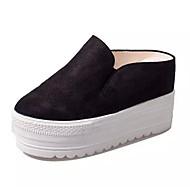 Damen Sandalen Vlies Sommer Normal Keilabsatz Schwarz Grau Braun 7,5 - 9,5 cm