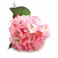 משי / PU ורדים / הורטנזיות פרחים מלאכותיים