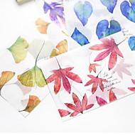 schitterende doorschijnende matte papieren envelop een set van 8 enveloppen (willekeurige kleuren)
