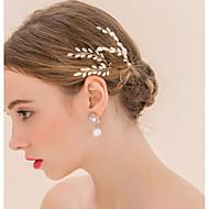 Mulheres Pérola / Crostal Capacete-Casamento / Ocasião Especial Alfinete de Cabelo / Cabelo da vara 1 Peça