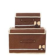 קופסאות אחסון / סלי אחסון / ארונות אחסון לא סרוג עםמאפיין הוא עם מכסה , ל תחתונים / בד / שמיכות