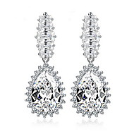 Drop Earrings Pearl Alloy Fashion Birthstones Oval White Jewelry Daily Casual 1 pair