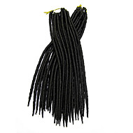 Heklet dreadlocks Hårforlengelse 12-22 Kanekalon 12 Strand 85-120 gram Hair Braids