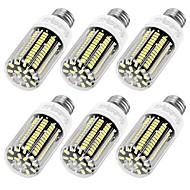 12W E12 / E26/E27 LED corn žárovky T 136 SMD 5733 1100 lm Teplá bílá / Chladná bílá Ozdobné AC 110-130 V 6 ks